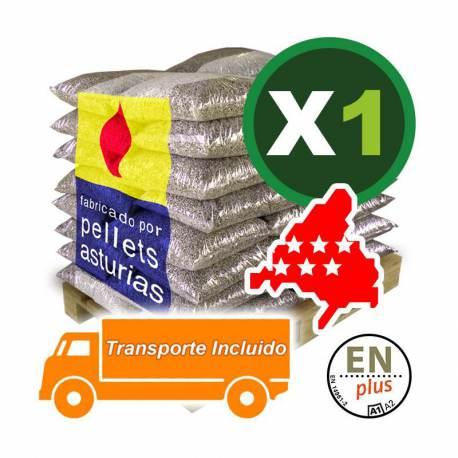 PELLETS ASTURIAS 72 SACOS. PORTES INCLUIDOS en la COMUNIDAD DE MADRID. EN PLUS A1.
